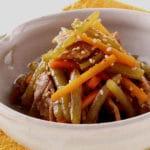 【ふきと豚肉のきんぴら】基本の「ふきの炒り煮」の作り置きレシピ薬膳的効果
