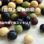 畑の肉【豆類】栄養効能!1日1回食べて解毒・利尿作用で体スッキリ