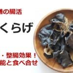 薬膳の腸活「黒きくらげ」貧血予防・整腸効果!驚きの効能と食べ合せ