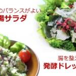 食物繊維のバランスがよい「美腸サラダ」発酵ドレッシングで腸を整える