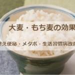 大麦・もち麦の効果!腸を整え便秘・メタボ・生活習慣病改善と活用法