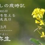3月弥生「暮らしの歳時記365日」四季の流れで心と体を整える