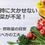 生命維持に欠かせない野菜が不足!効果・摂取量の目安と食べ方の工夫