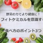 野菜と果実などの植物の力でより健康に!ファイトケミカル効果と食べ方のポイント3つ